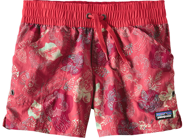 Patagonia Girls Costa Rica Baggies Shorts Dropdot: Cerise